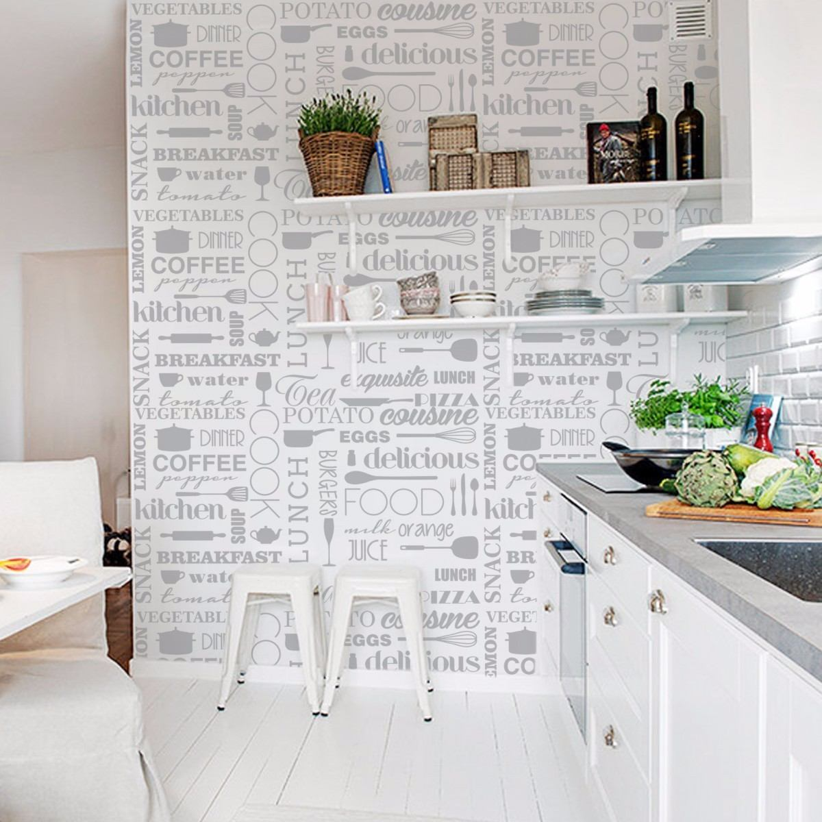 Empapelado Vinilo Autoadhesivo Pared Muebles Cocinas Oferta  # Muebles Empapelados