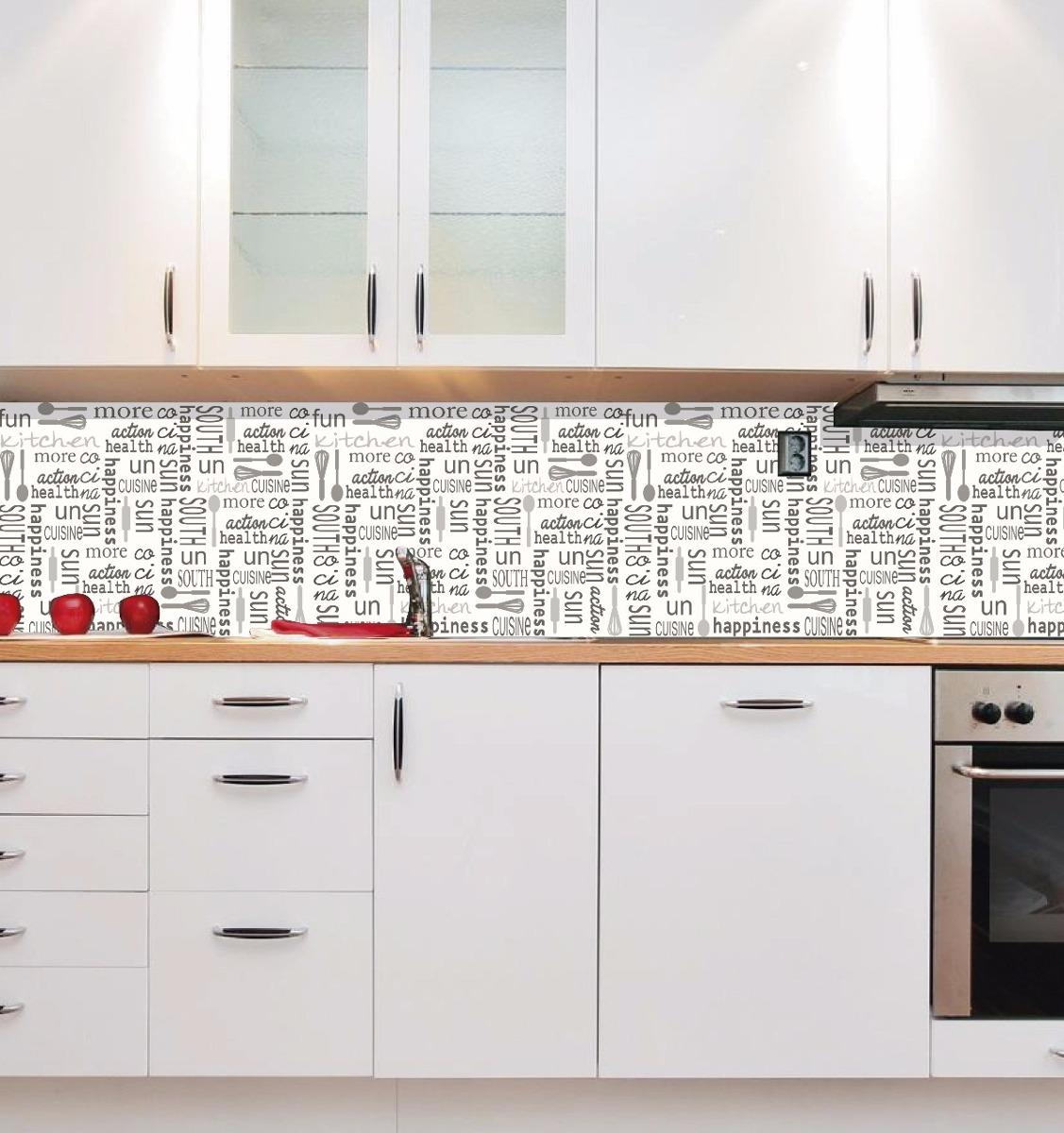 Ideas para tapar azulejos de cocina for Vinilos pared azulejos