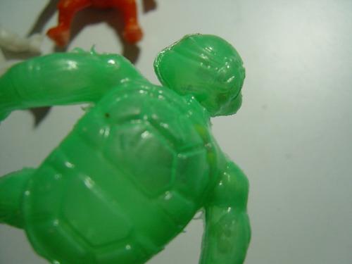 empaque antiguo tortugas ninja plástico inflado con chochito