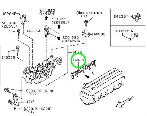 empaquetadura nissan terrano d22 diesel