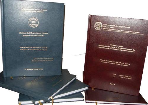 empastado de tesis, libros contables en tapa dura.