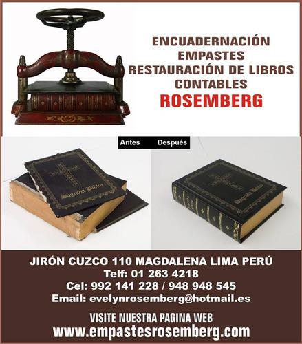 empaste encuadernacion  de libros contables tesis  biblias