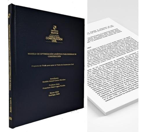 empastes + impresión ( 50 páginas)