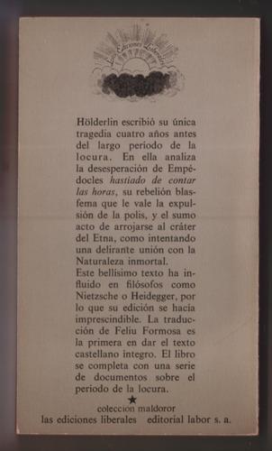 empedocles y escritos sobre la locura - hölderlin