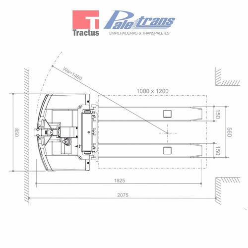 empilhadeira elétrica paletrans px1225-1.200kg- 2,5m- nova