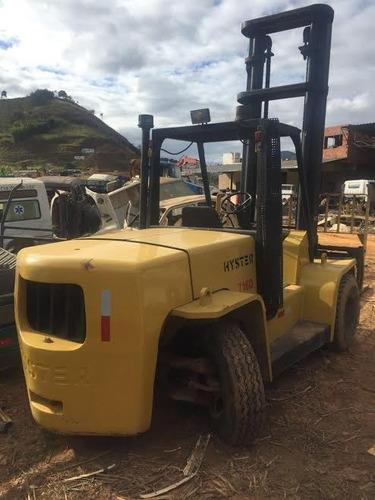 empilhadeira hyster h155xl2 duplex diesel ano: 2002 7 ton