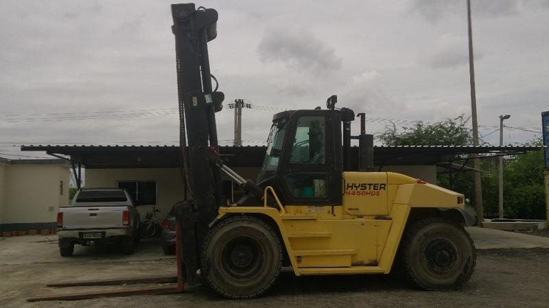 empilhadeira hyster h450 hds 20 ton, motor cummins ano 2011