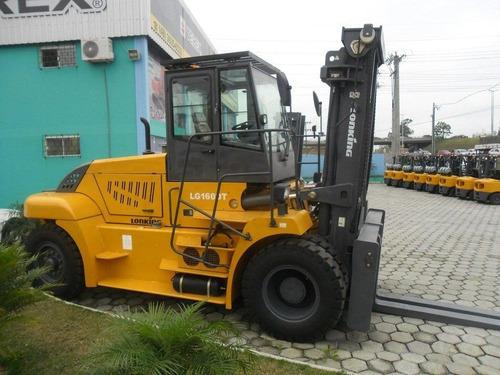empilhadeira lonking lg160 nova diesel, 16 ton, torre padrão