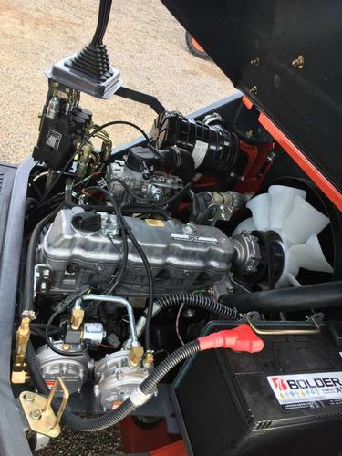 empilhadeira lonking lg30glt, motor nissan k25 á gás - 3ton
