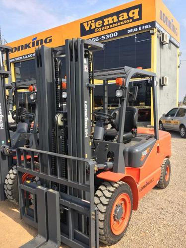 empilhadeira lonking lg40 nova diesel, 4 ton, torre padrão