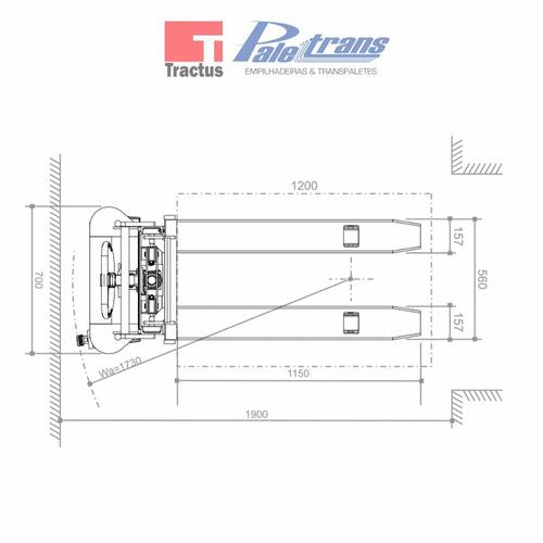 empilhadeira manual paletrans lm 516 - 500kg - 1,60m
