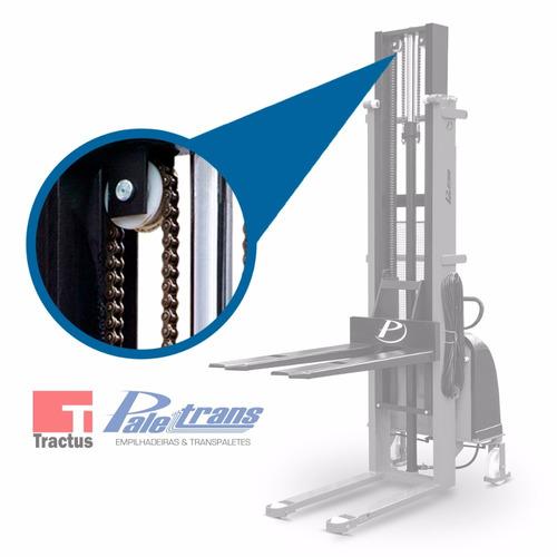 empilhadeira semi-elétrica paletrans - 1000kg - 1,6m - nova