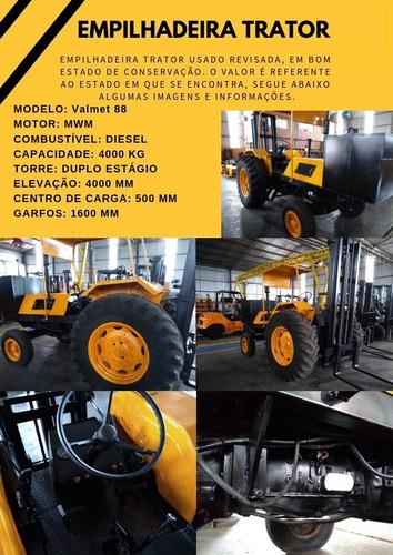 empilhadeira trator 4 toneladas - elevação 4 metros