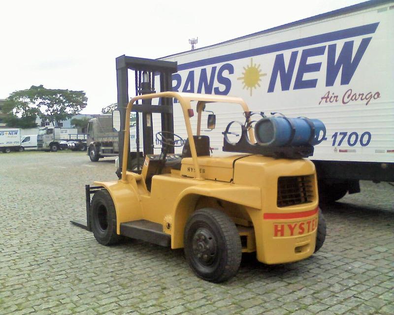 empilhadeiras hyster h130 cap 6 tons, deslocador lateral