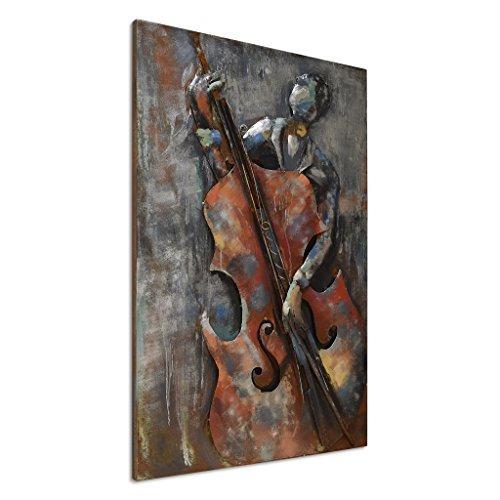 empire art direct the bassist arte de pared de metal en 3d p
