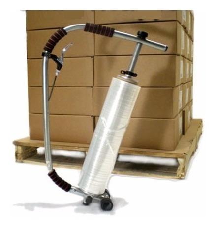 emplayadora manual ajustable ergonómico p/ rollos 12-20 pulg