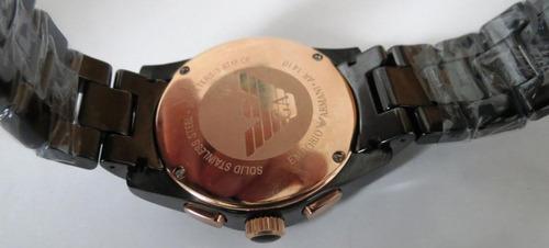 emporio armani ar1410  museo ceramica oro nero chronometer