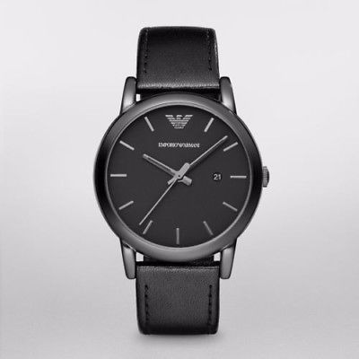 2e5e8b4ce226 Emporio Armani Ar1732 Reloj Clásico De Cuero Negro Con...