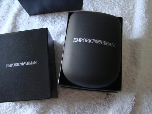 emporio armani chronograph brown dial brown leather ar1734