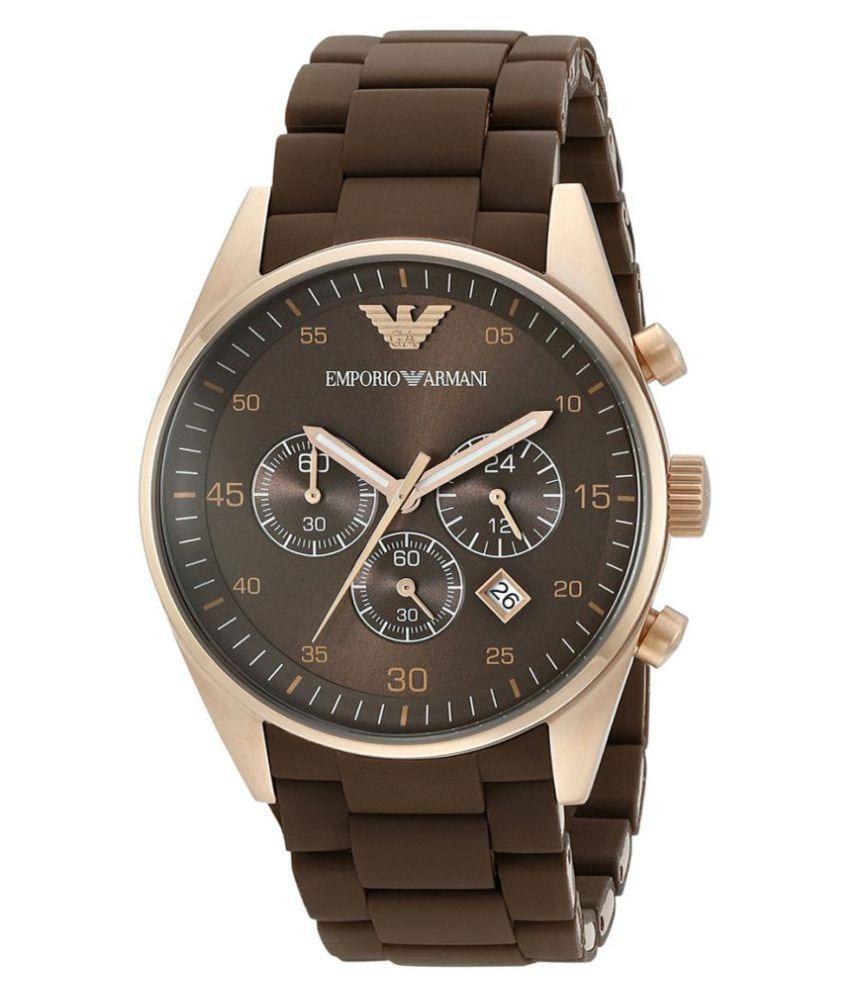 7b4b080d97b5 emporio armani cronógrafo ar5890 sportivo brown reloj de... Cargando zoom.
