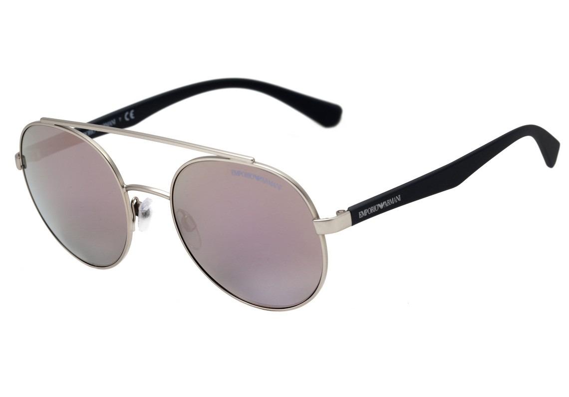 319e358c3 emporio armani ea 2051 - óculos de sol 3015/5r prata e azul. Carregando  zoom.