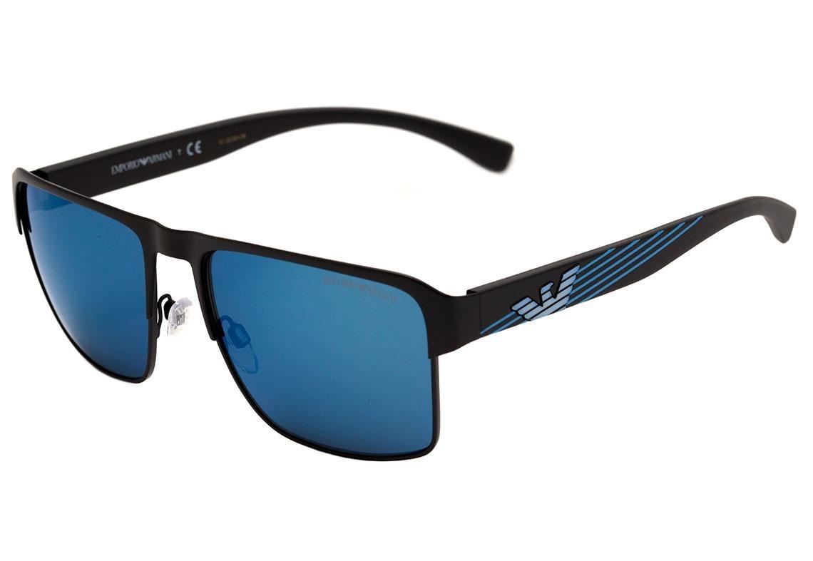 9641eedaa Emporio Armani Ea 2066 - Óculos De Sol 3001/55 Preto Fosco/ - R$ 521 ...