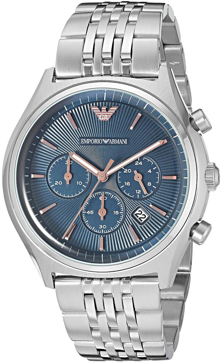Reloj Armani Ar1974 Vestido De Cuar Emporio Hombres Plata QrdshtCx