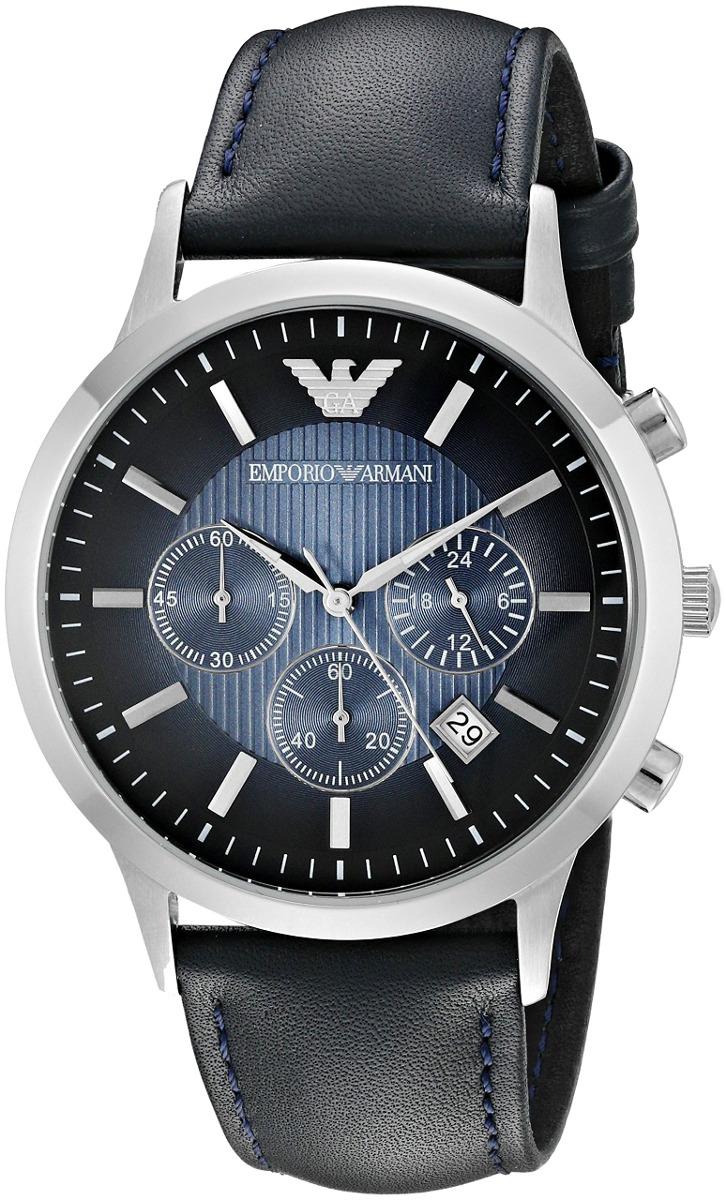 ee7af1b8cae emporio armani hombres ar2473 vestido azul reloj de cuero. Cargando zoom.