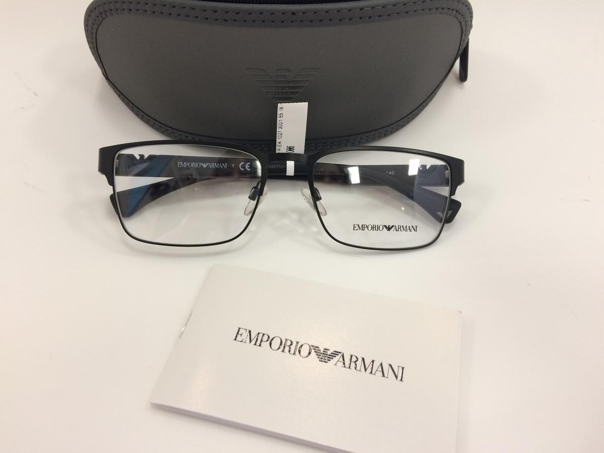6960d1b45e7 empório armani óculos ea 1027 3001 55 18 140. Carregando zoom.