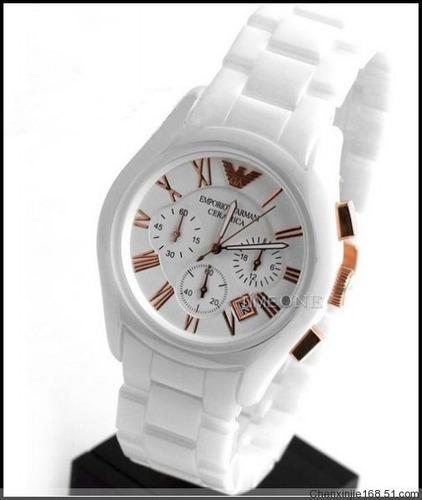 a8ce3dbe926 emporio armani relógio · relógio emporio armani ar1416 cerâmica branco rose  ...