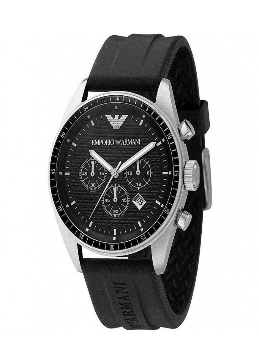 1a824cf0507 Relógio Emporio Armani Ar0527 Pulseira De Boracha - R  589