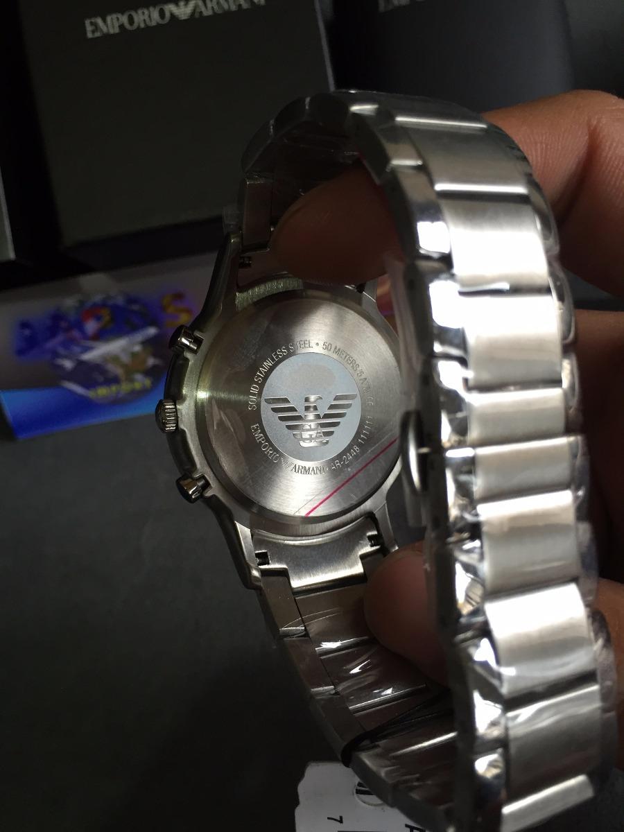 382ec58a985 Relógio Emporio Armani Ar2448 Azul Original Completo Caixa - R  559 ...