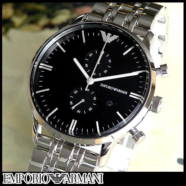 195311603e4 relógio emporio armani ar0389 prata e preto completo · relógio emporio  armani · emporio armani relógio