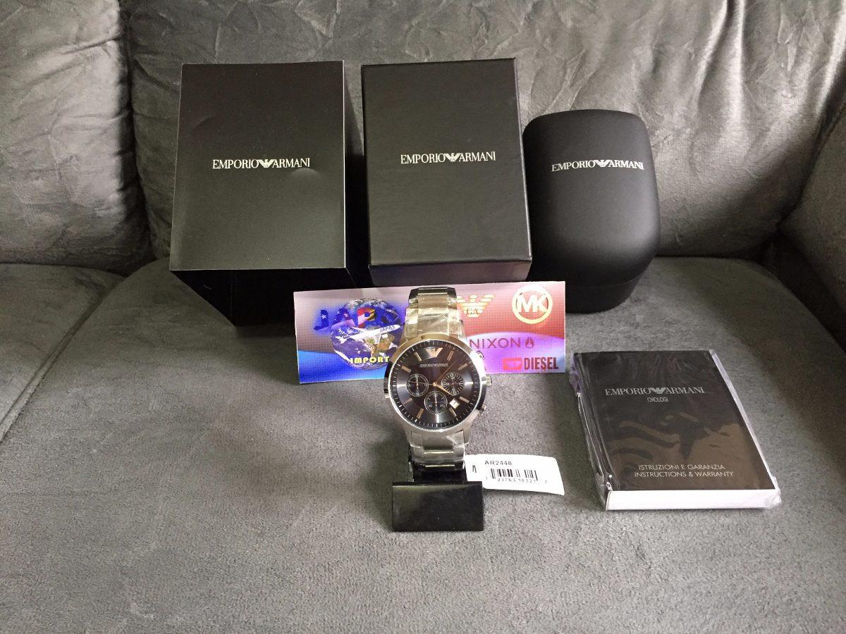 4ccc6bb6687 Relógio Emporio Armani Ar2448 Azul 100% Original 12x S juros - R ...