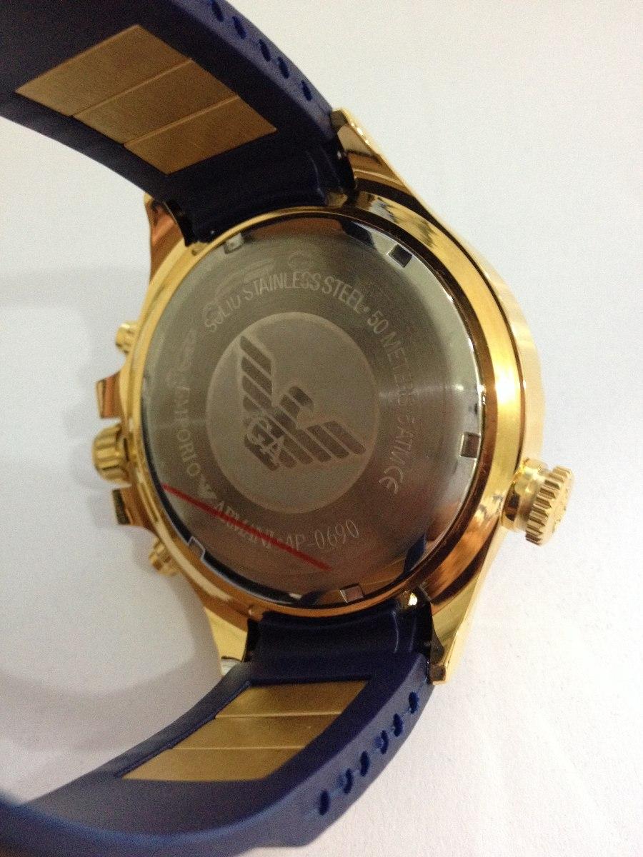 0724d59f2c1 Relógio Emporio Armani Ap0690 Azul (frete Gratis) - R  429