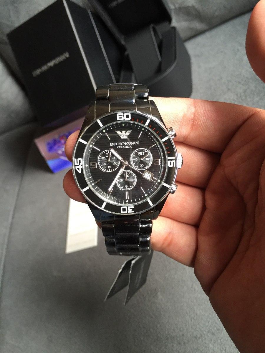 cec8b5e049d Carregando zoom... relógio emporio armani ar1421 cerâmica preta 100%  original