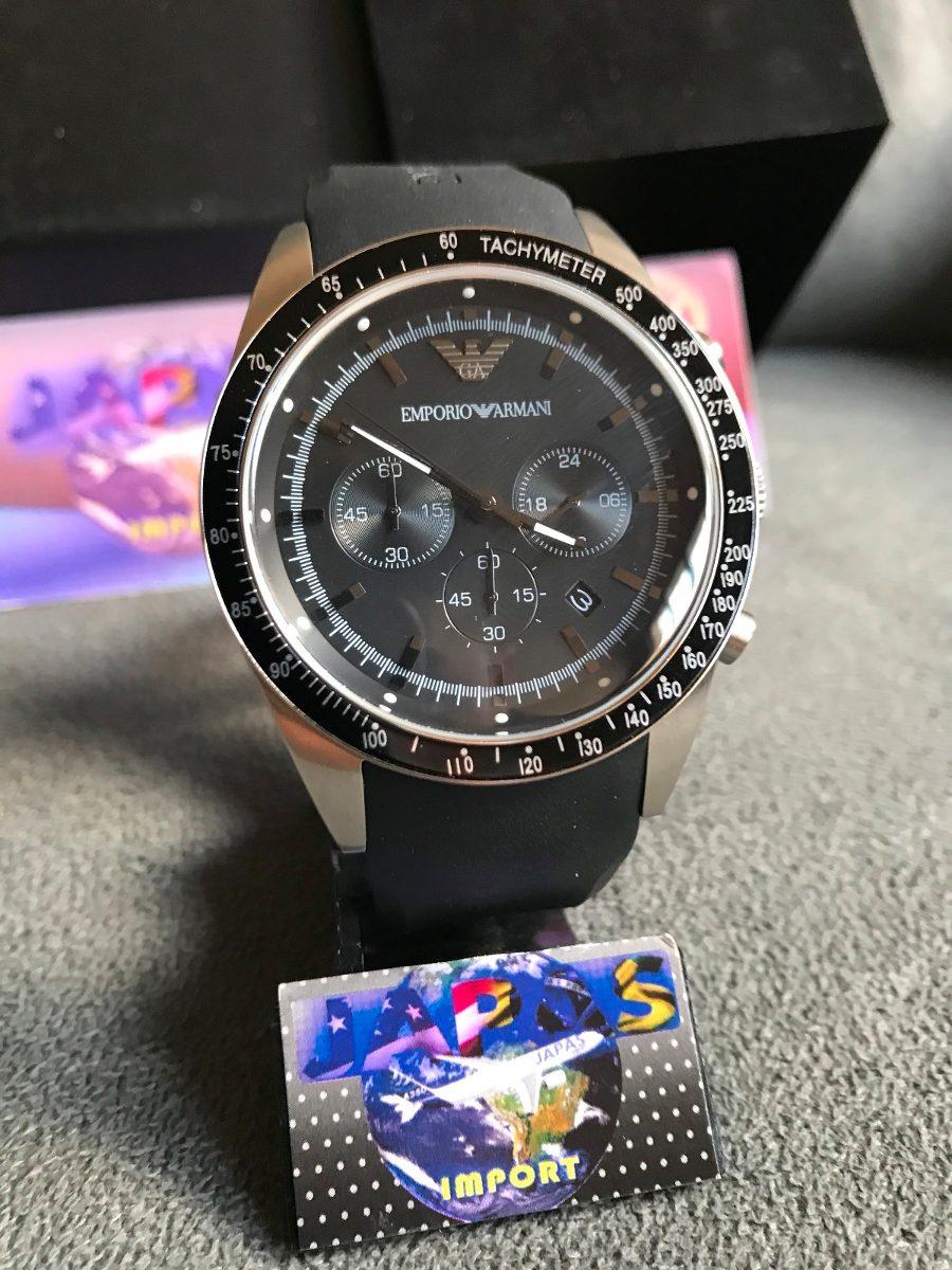 c5afca98373 Relógio Empório Armani Ar5985 Preto Original Completo Caixa - R  539 ...