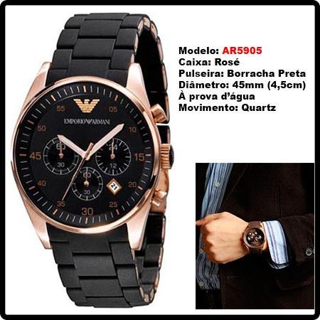 a5da15219e6 relógio emporio armani ar5905 preto ar5919 branco c  caixa ! relógio  emporio armani · emporio armani relógio