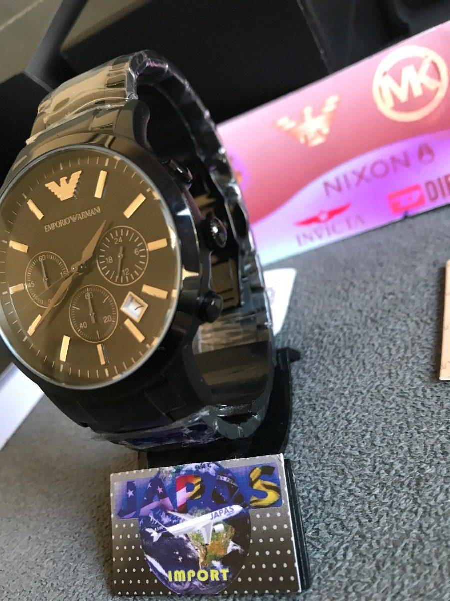 67b7814f30c Relógio Emporio Armani Ar2453 Preto Original 12x Sem Juros - R  479 ...