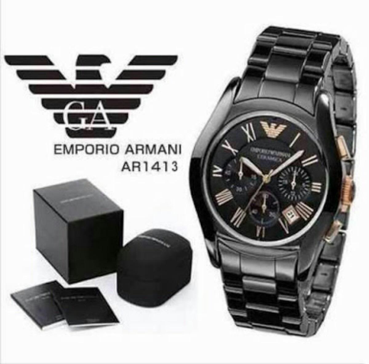 5bc60fd3ee5 Relógio Empório Armani Ar1413 Original De Cerâmica - R  849