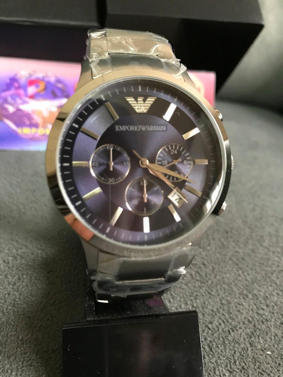 934c0063a26 Relógio Emporio Armani Ar2448 Azul 100% Original 12x S juros - R ...