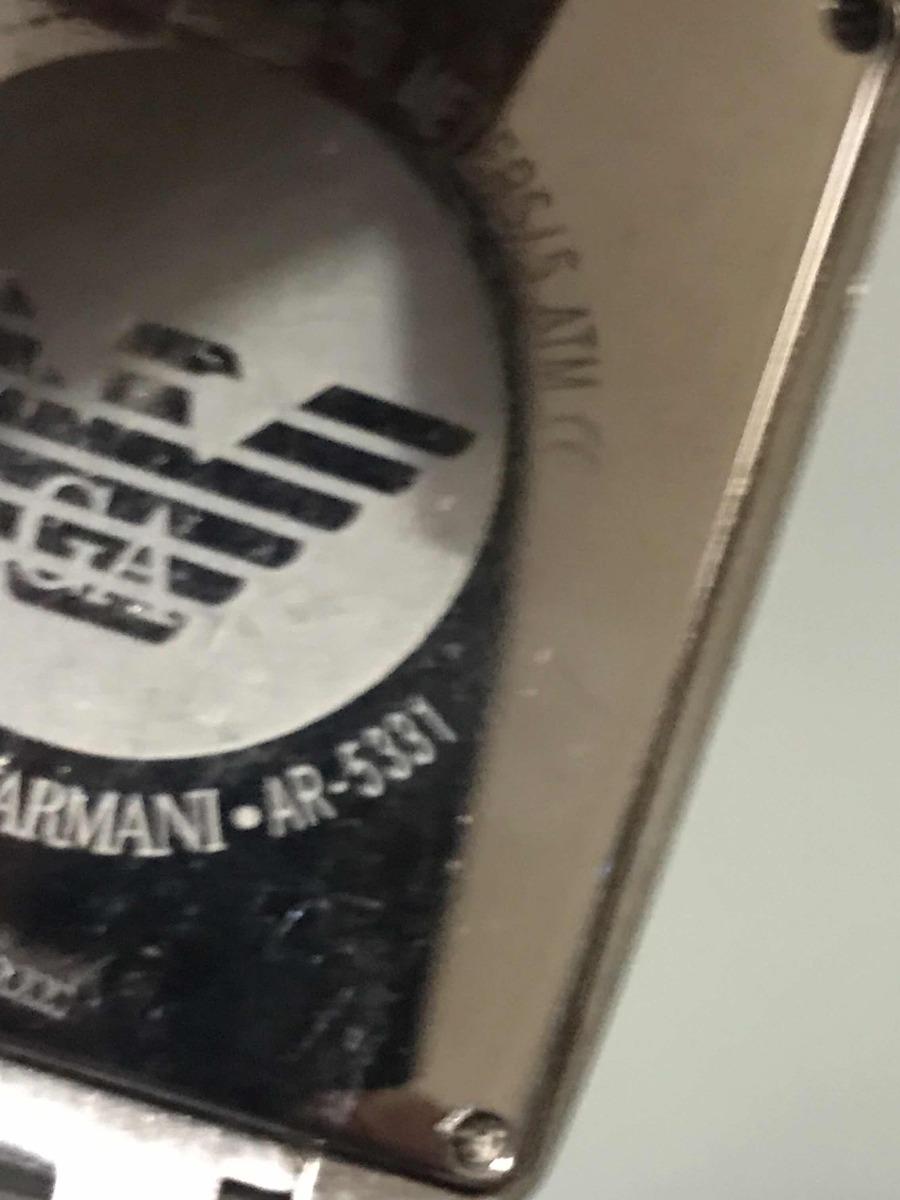 f51615f30e0 Relógio Empório Armani Ar5331   original   - R  360