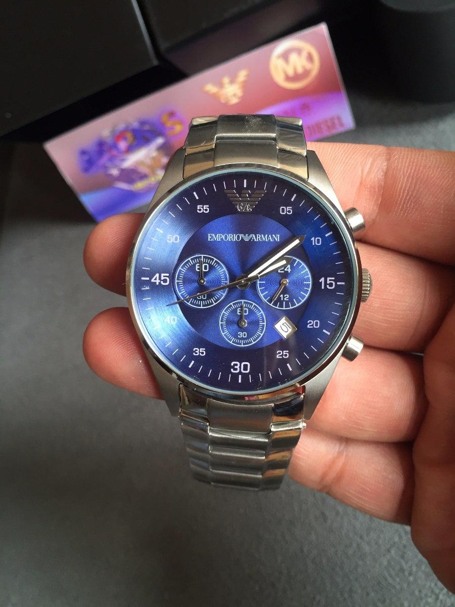 9fcf7ac8648 Relógio Emporio Armani Ar5860 Azul 100% Original 12x S juros - R ...