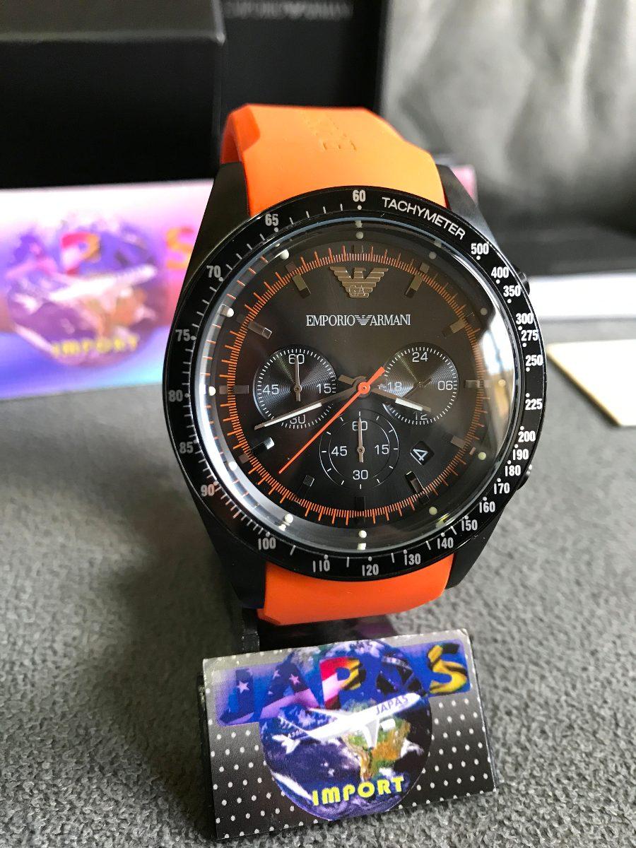 afbd559c7f0 Relógio Empório Armani Ar5987 Laranja Original 12x S  Juros - R  449 ...
