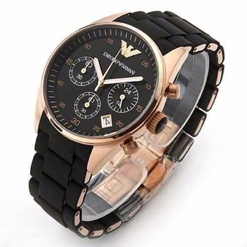bdb3cdefbc6 emporio armani relógio · relógio emporio armani ar5905 preto rosé ...