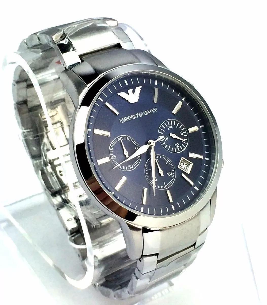 0a89483761eab relógio emporio armani ar2448 prata azul zwp0944 promocional. 4 Fotos