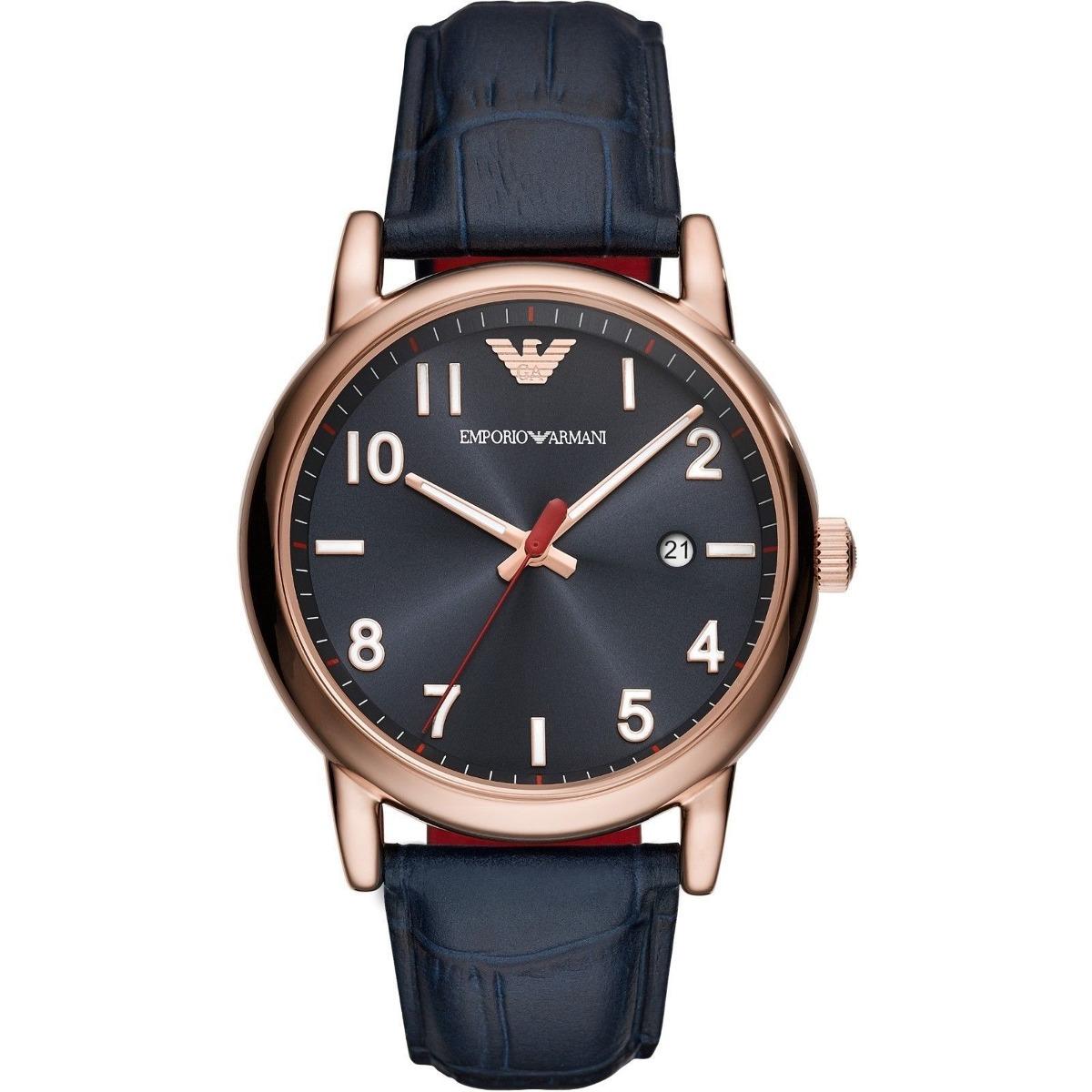 8a6cd3836681 emporio armani reloj de hombre en color rosa dorado azul 43. Cargando zoom.