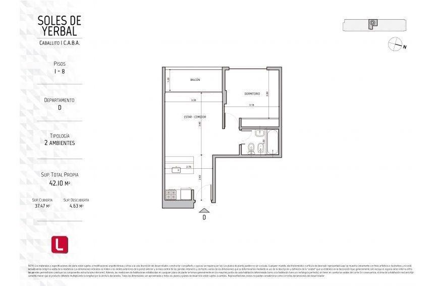 emprendimiento 1,2, 3 y 4 ambientes con amenities