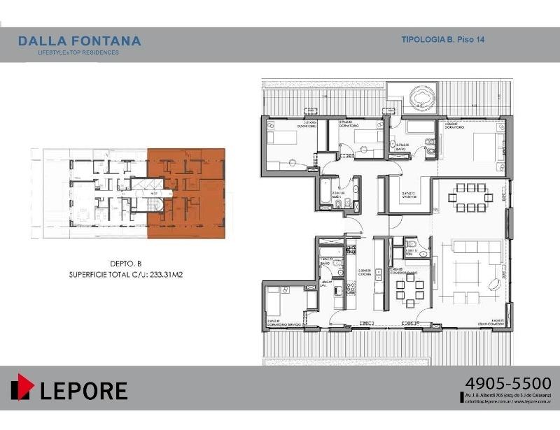 emprendimiento 2, 3, 4 y 5 ambientes con amenities