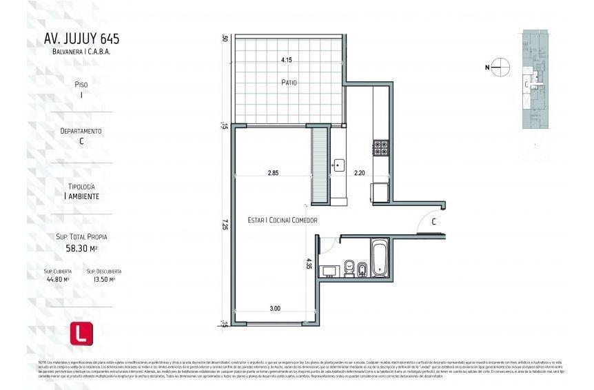 emprendimiento edificio de 12 pisos con unidades de 1 y 2 ambient